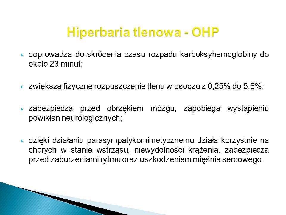 Hiperbaria tlenowa - OHP