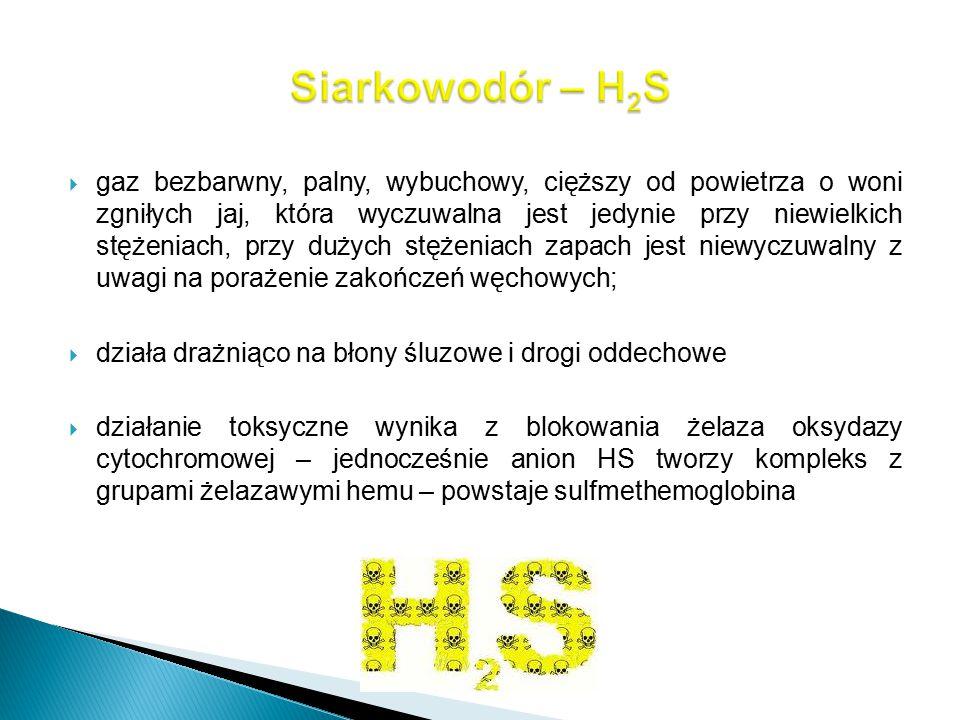 Siarkowodór – H2S