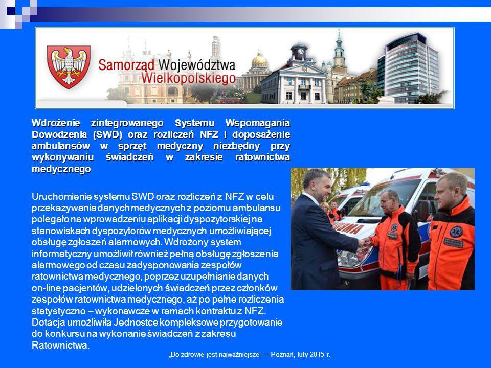 """""""Bo zdrowie jest najważniejsze – Poznań, luty 2015 r."""