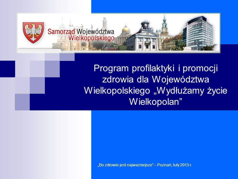 """Program profilaktyki i promocji zdrowia dla Województwa Wielkopolskiego """"Wydłużamy życie Wielkopolan"""