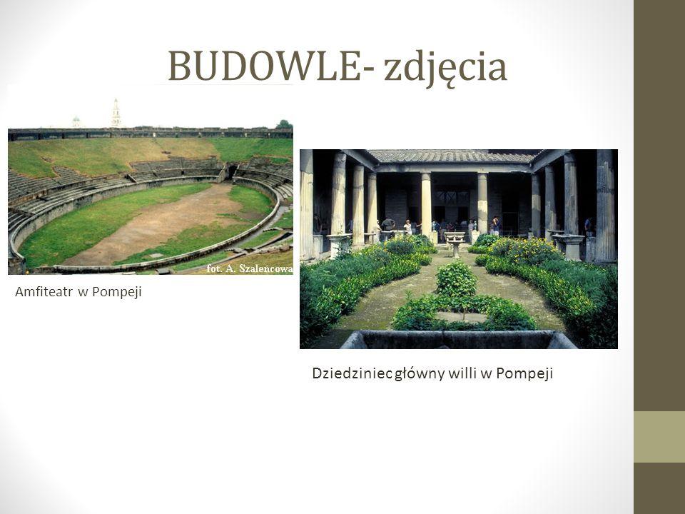 BUDOWLE- zdjęcia Dziedziniec główny willi w Pompeji