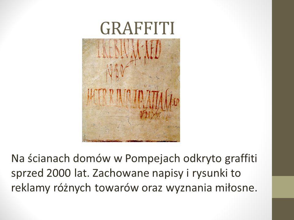 GRAFFITI Na ścianach domów w Pompejach odkryto graffiti sprzed 2000 lat.