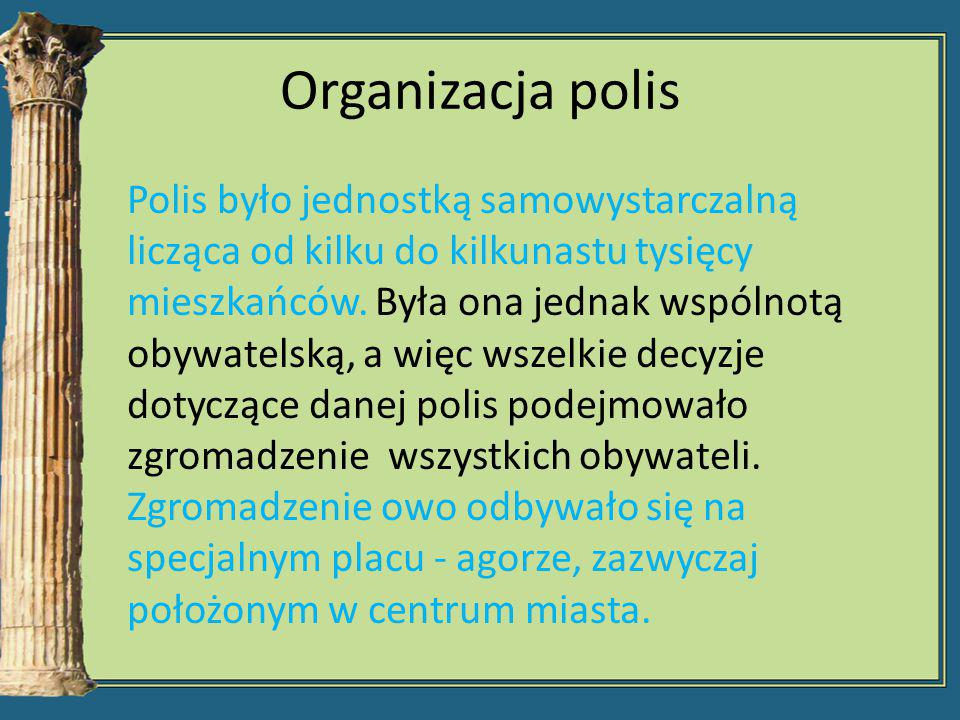 Organizacja polis