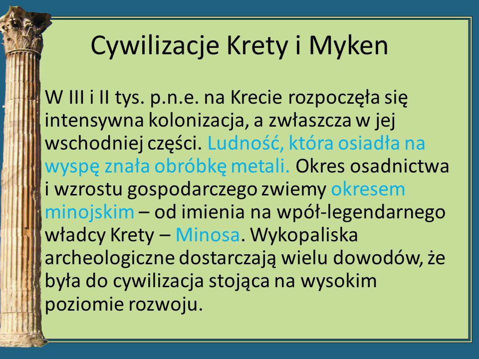 Cywilizacje Krety i Myken