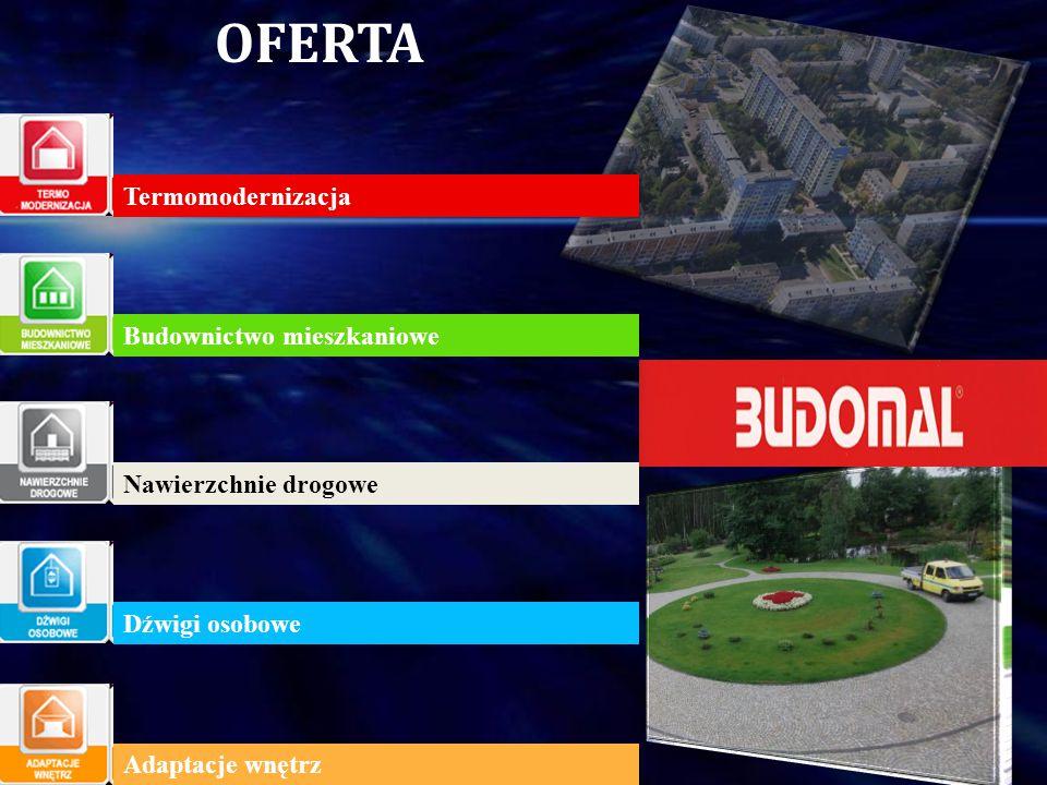 OFERTA Termomodernizacja Budownictwo mieszkaniowe Nawierzchnie drogowe