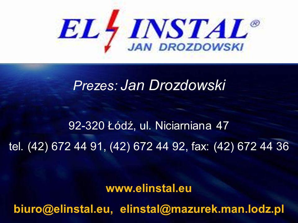 biuro@elinstal.eu, elinstal@mazurek.man.lodz.pl