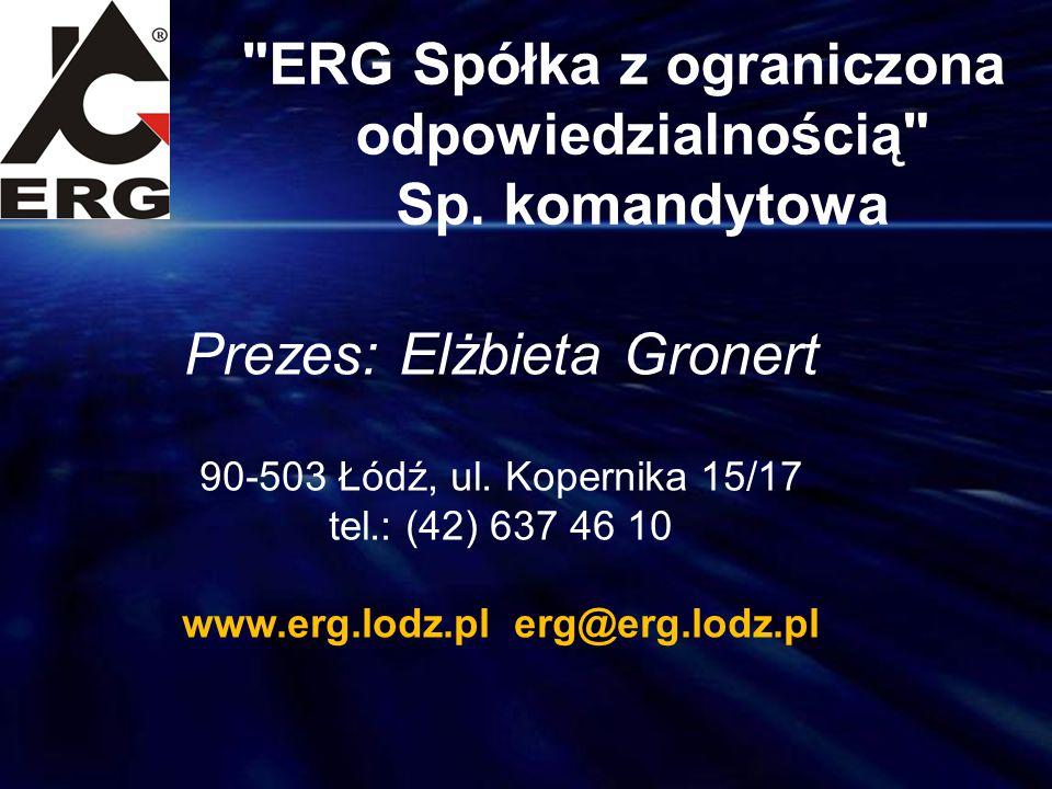 ERG Spółka z ograniczona odpowiedzialnością Sp. komandytowa