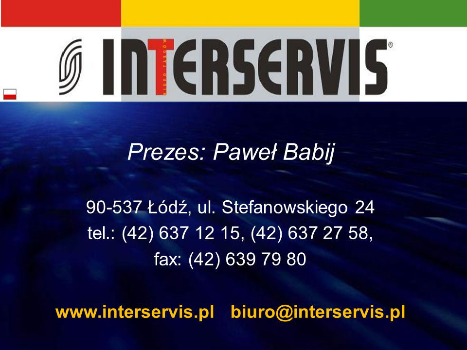 www.interservis.pl biuro@interservis.pl