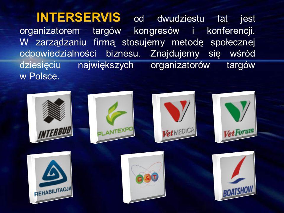 INTERSERVIS od dwudziestu lat jest organizatorem targów kongresów i konferencji.