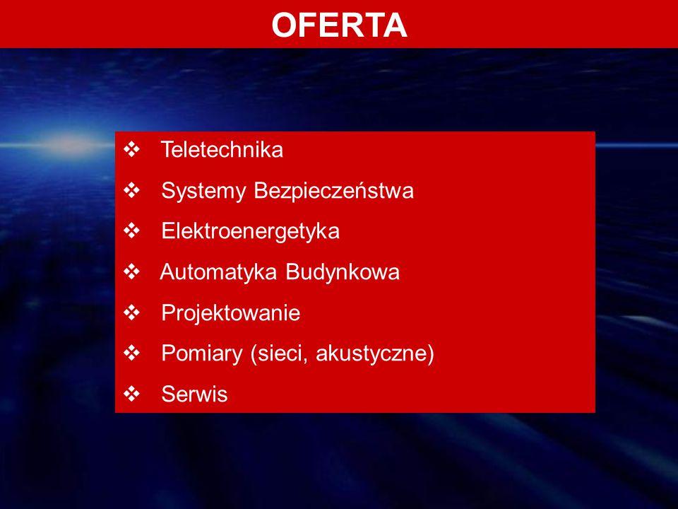 OFERTA Teletechnika Systemy Bezpieczeństwa Elektroenergetyka