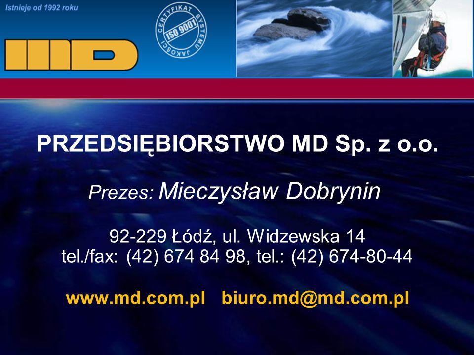 PRZEDSIĘBIORSTWO MD Sp. z o.o. www.md.com.pl biuro.md@md.com.pl