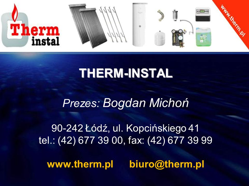 www.therm.pl biuro@therm.pl