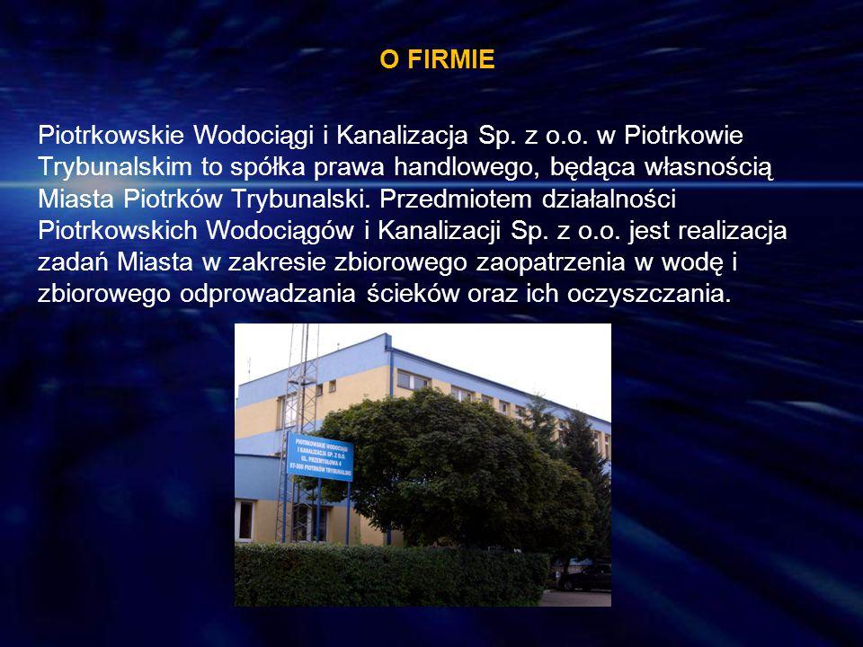 O FIRMIE Piotrkowskie Wodociągi i Kanalizacja Sp. z o. o