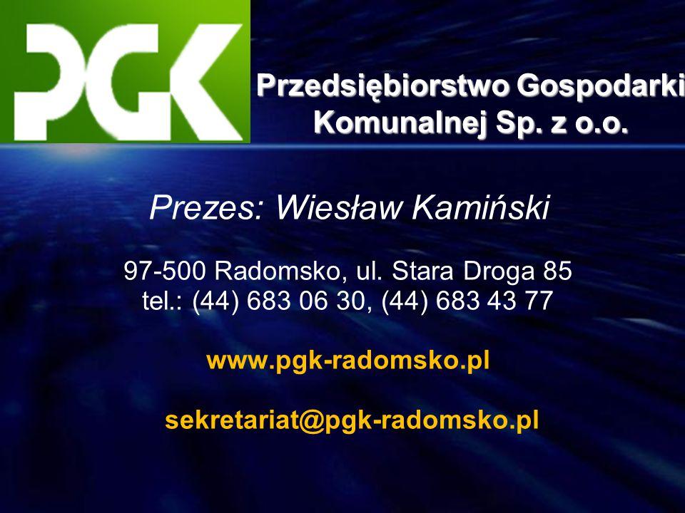 Przedsiębiorstwo Gospodarki Komunalnej Sp. z o.o.