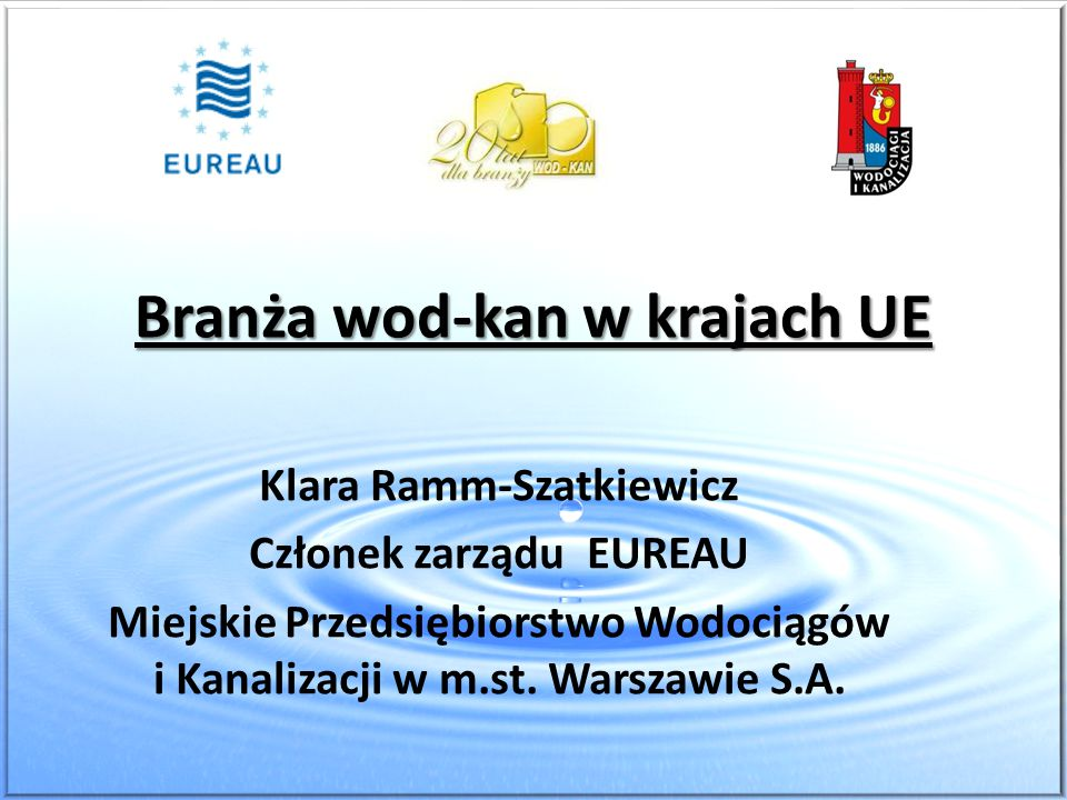 Branża wod-kan w krajach UE