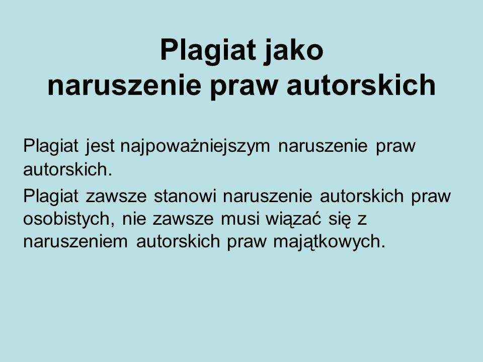 Plagiat jako naruszenie praw autorskich