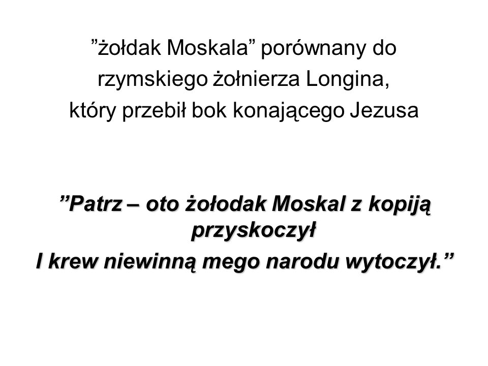 żołdak Moskala porównany do rzymskiego żołnierza Longina,