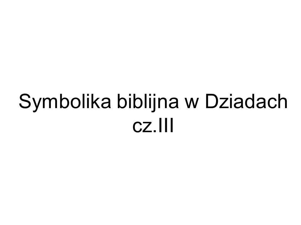Symbolika biblijna w Dziadach cz.III
