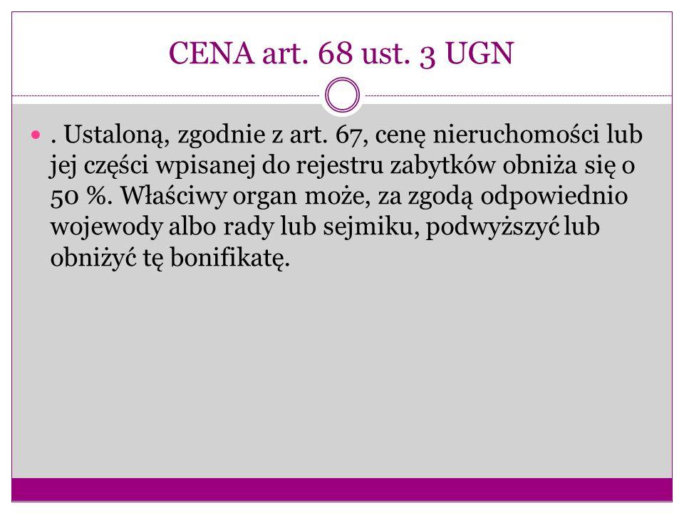 CENA art. 68 ust. 3 UGN