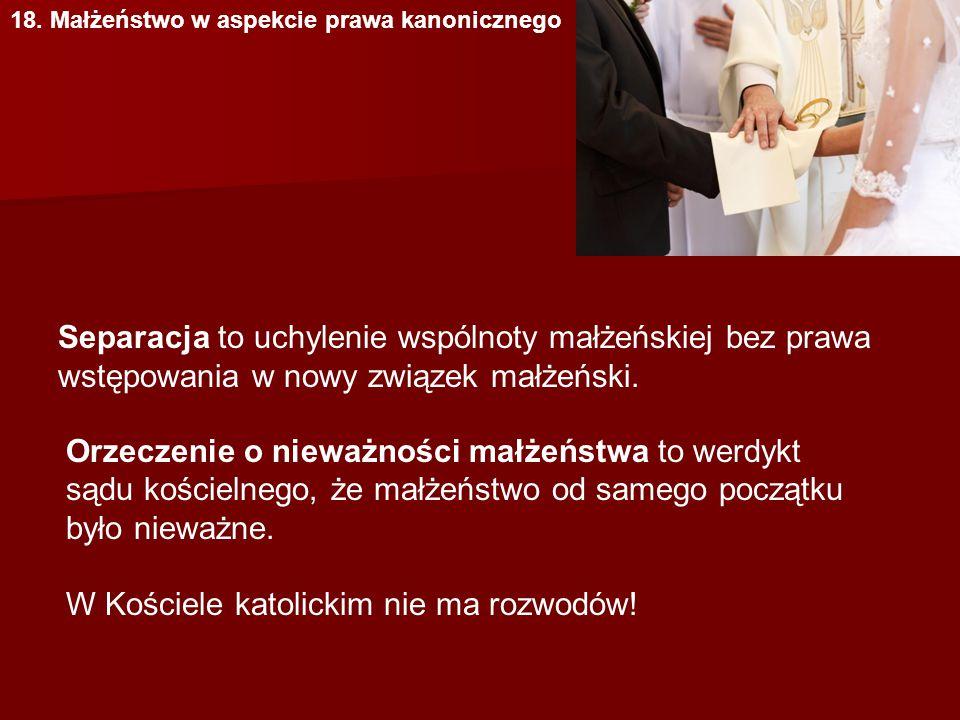 W Kościele katolickim nie ma rozwodów!