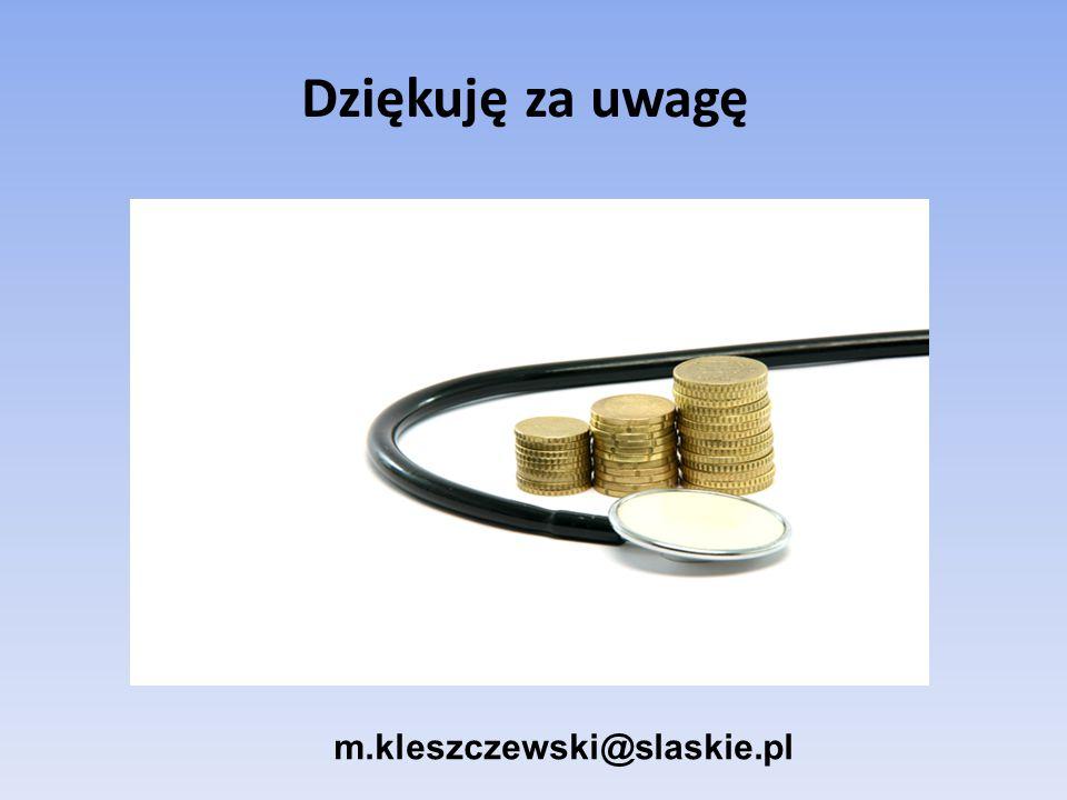 Dziękuję za uwagę m.kleszczewski@slaskie.pl