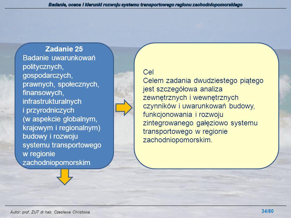 Badanie, ocena i kierunki rozwoju systemu transportowego regionu zachodniopomorskiego