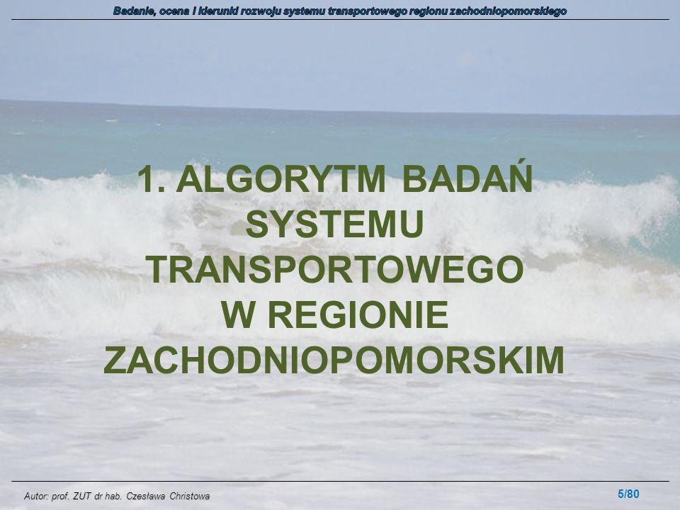 1. ALGORYTM BADAŃ SYSTEMU TRANSPORTOWEGO W REGIONIE ZACHODNIOPOMORSKIM