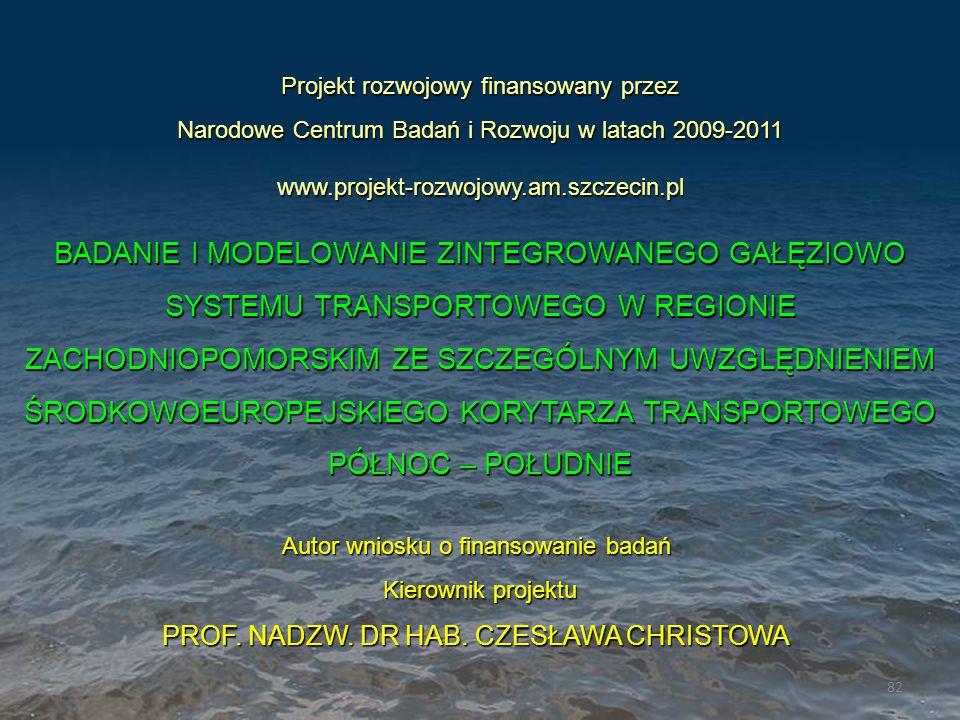 Projekt rozwojowy finansowany przez Narodowe Centrum Badań i Rozwoju w latach 2009-2011