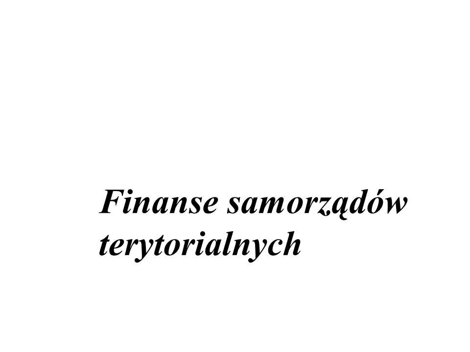 Finanse samorządów terytorialnych
