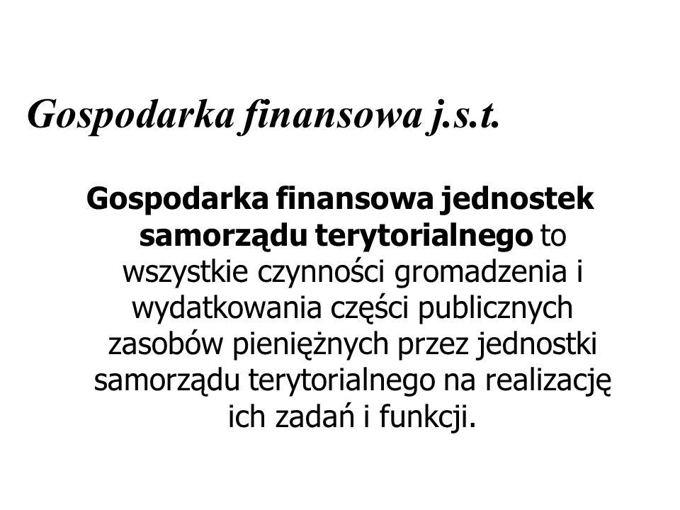 Gospodarka finansowa j.s.t.