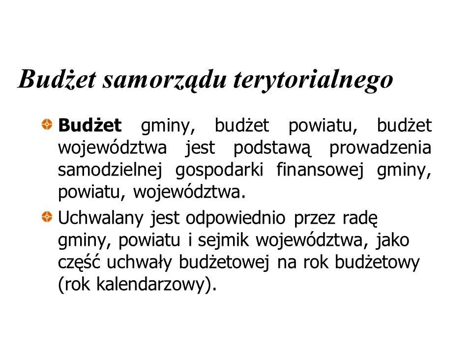 Budżet samorządu terytorialnego