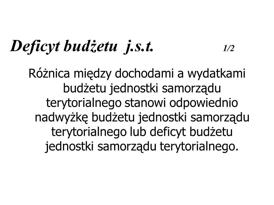 Deficyt budżetu j.s.t. 1/2