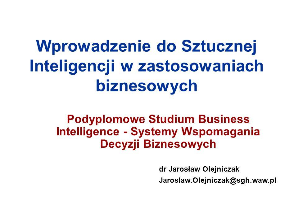 Wprowadzenie do Sztucznej Inteligencji w zastosowaniach biznesowych