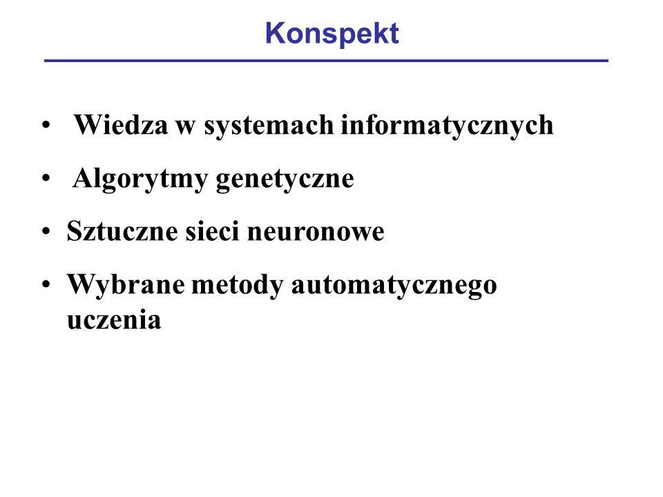 Konspekt Wiedza w systemach informatycznych. Algorytmy genetyczne.