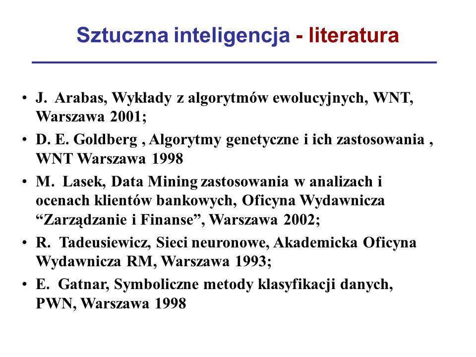 Sztuczna inteligencja - literatura