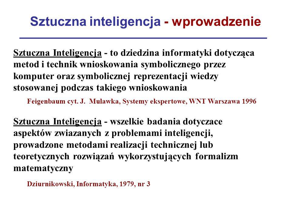 Sztuczna inteligencja - wprowadzenie