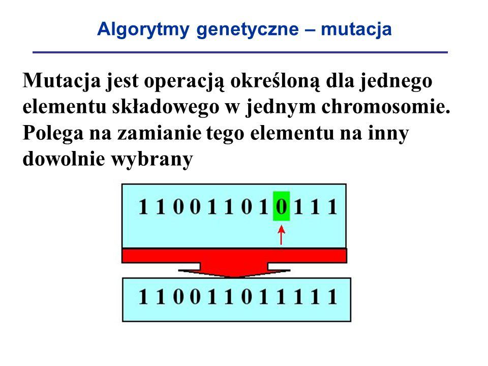 Algorytmy genetyczne – mutacja