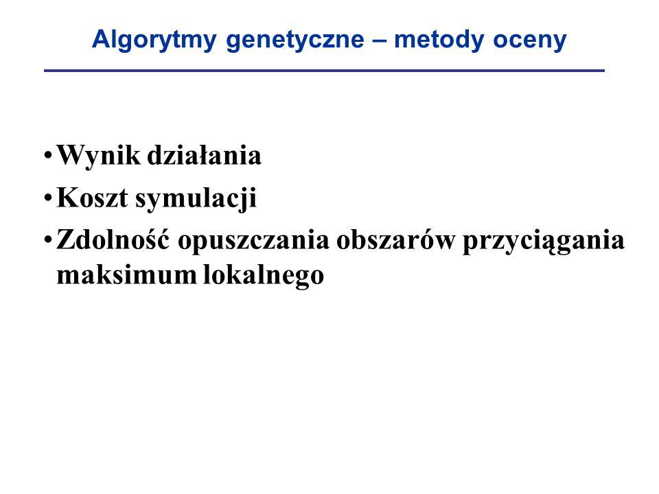 Algorytmy genetyczne – metody oceny