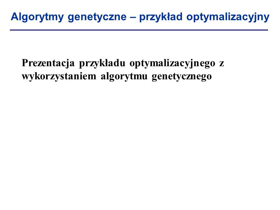 Algorytmy genetyczne – przykład optymalizacyjny