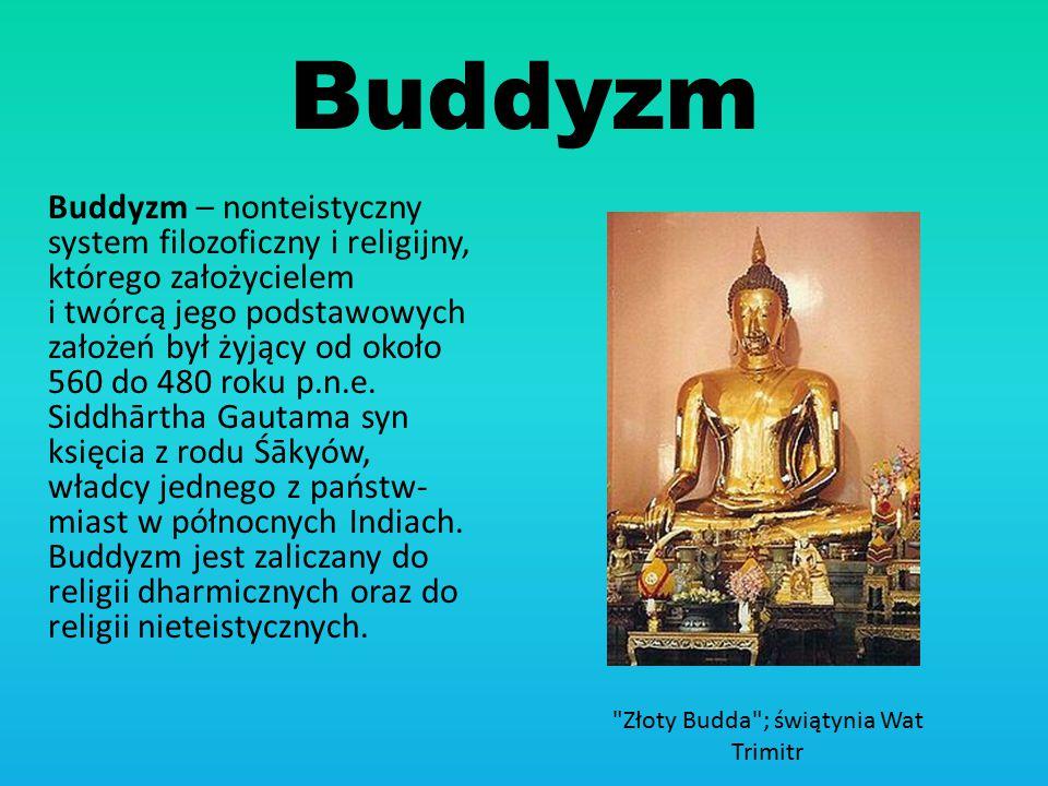 Złoty Budda ; świątynia Wat Trimitr