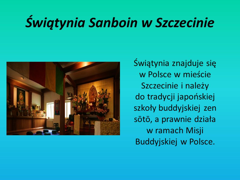 Świątynia Sanboin w Szczecinie