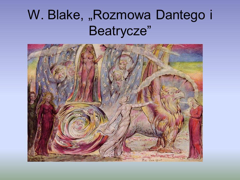 """W. Blake, """"Rozmowa Dantego i Beatrycze"""