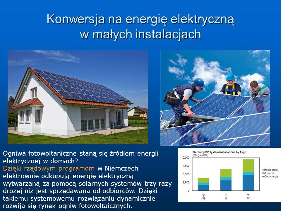 Konwersja na energię elektryczną w małych instalacjach