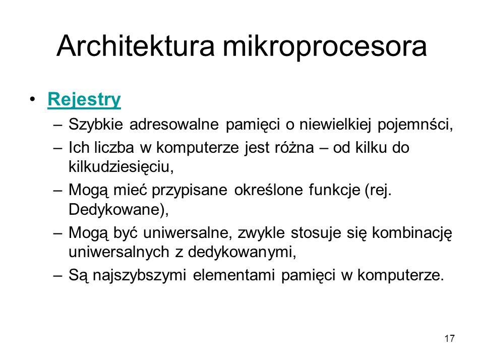 Architektura mikroprocesora
