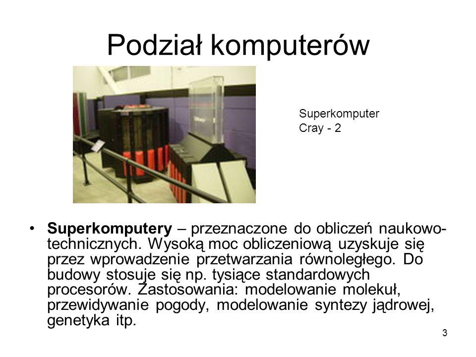 Podział komputerów Superkomputer Cray - 2.