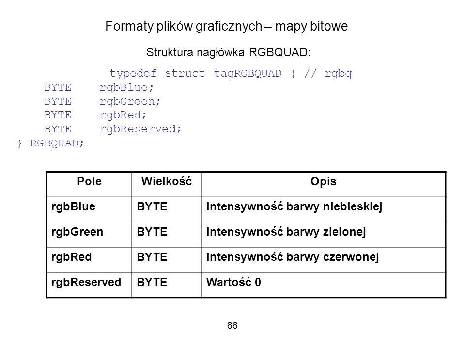 Formaty plików graficznych – mapy bitowe
