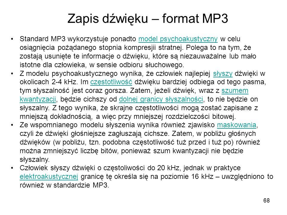 Zapis dźwięku – format MP3