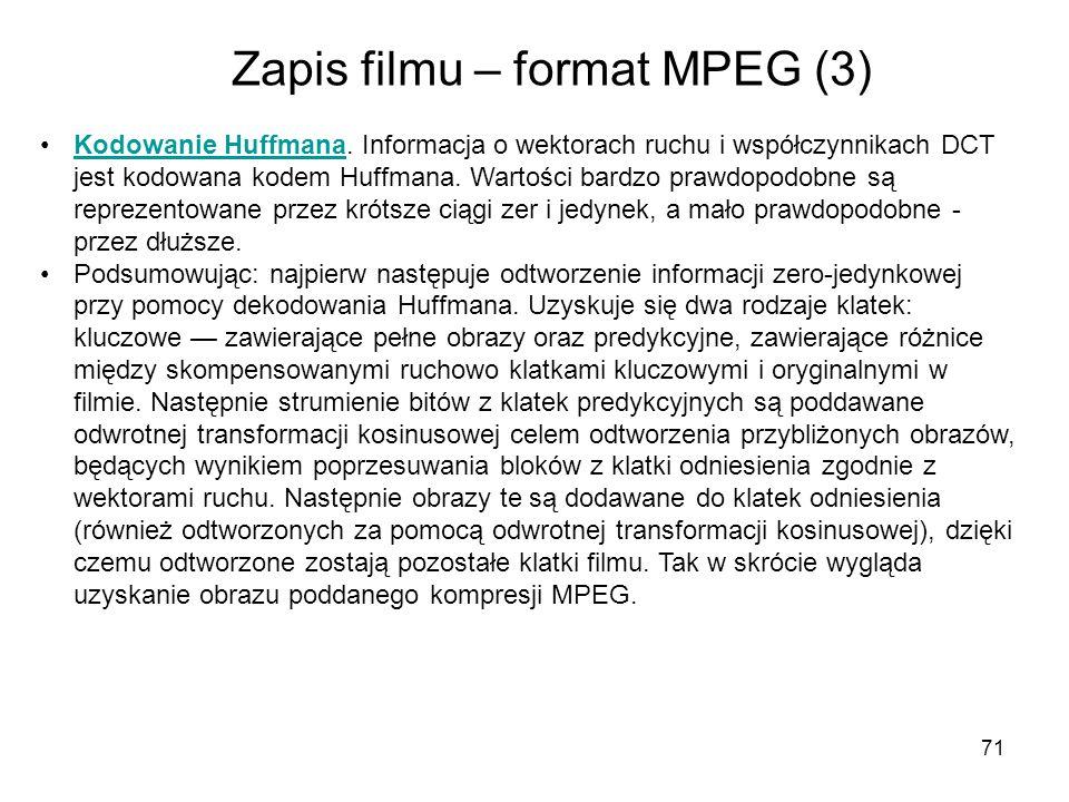 Zapis filmu – format MPEG (3)