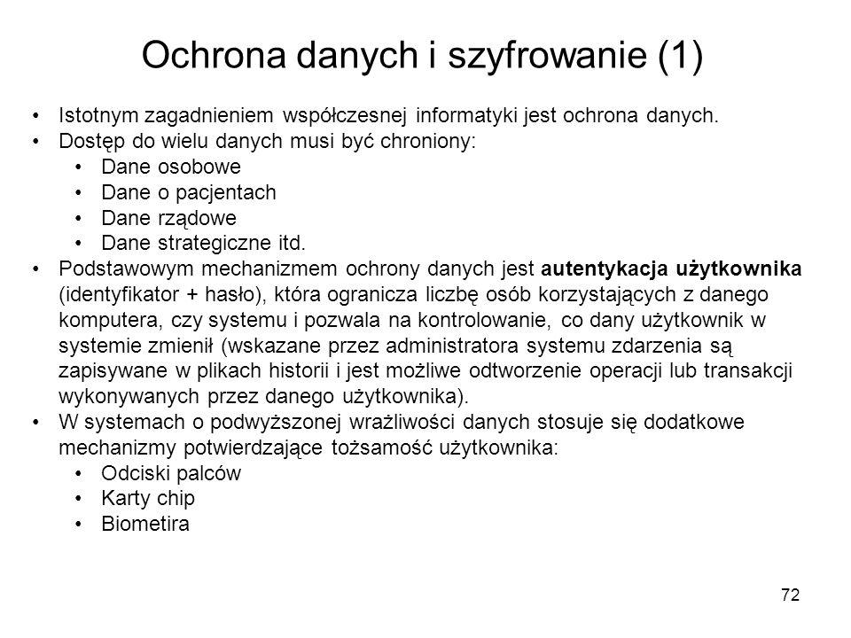 Ochrona danych i szyfrowanie (1)