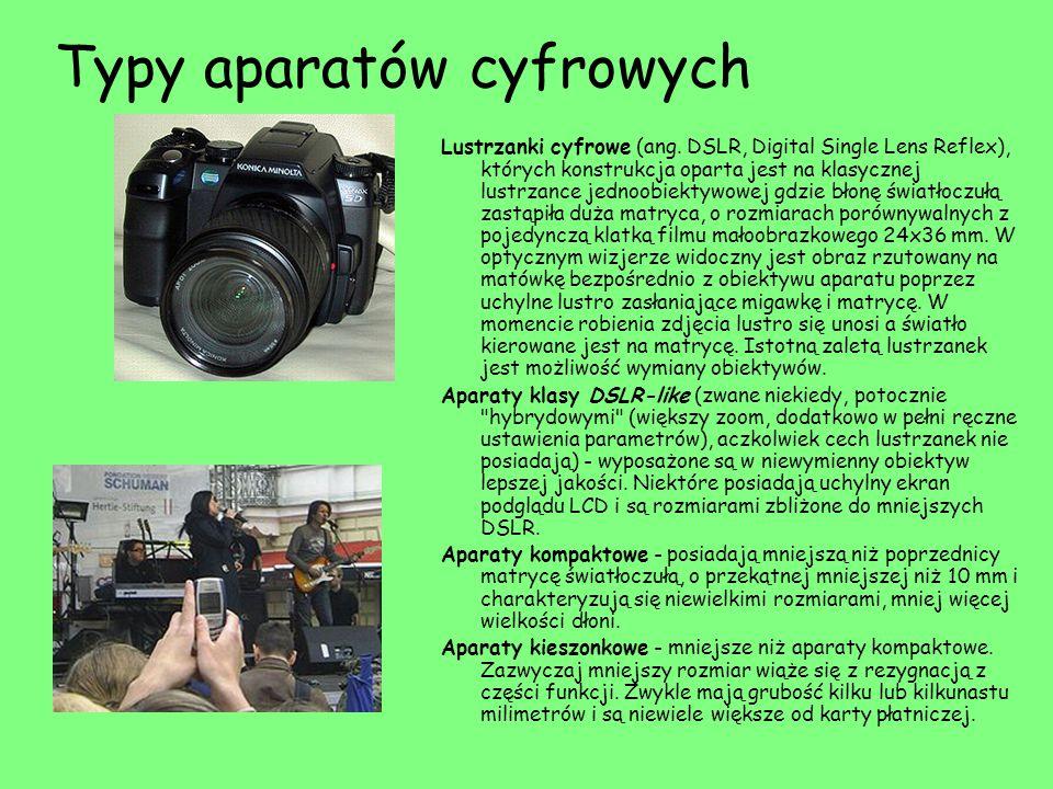 Typy aparatów cyfrowych